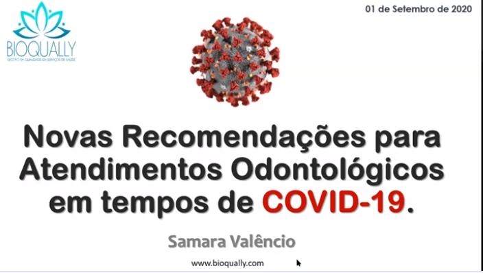 Chame o CRO - Novas Recomendações para Atendimentos Odontológicos em tempos de COVID 19.