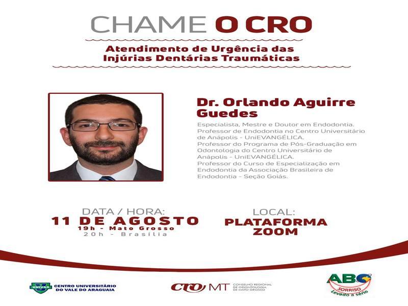 CHAME O CRO: Atendimento de Urgência das Injúrias Dentárias Traumáticas