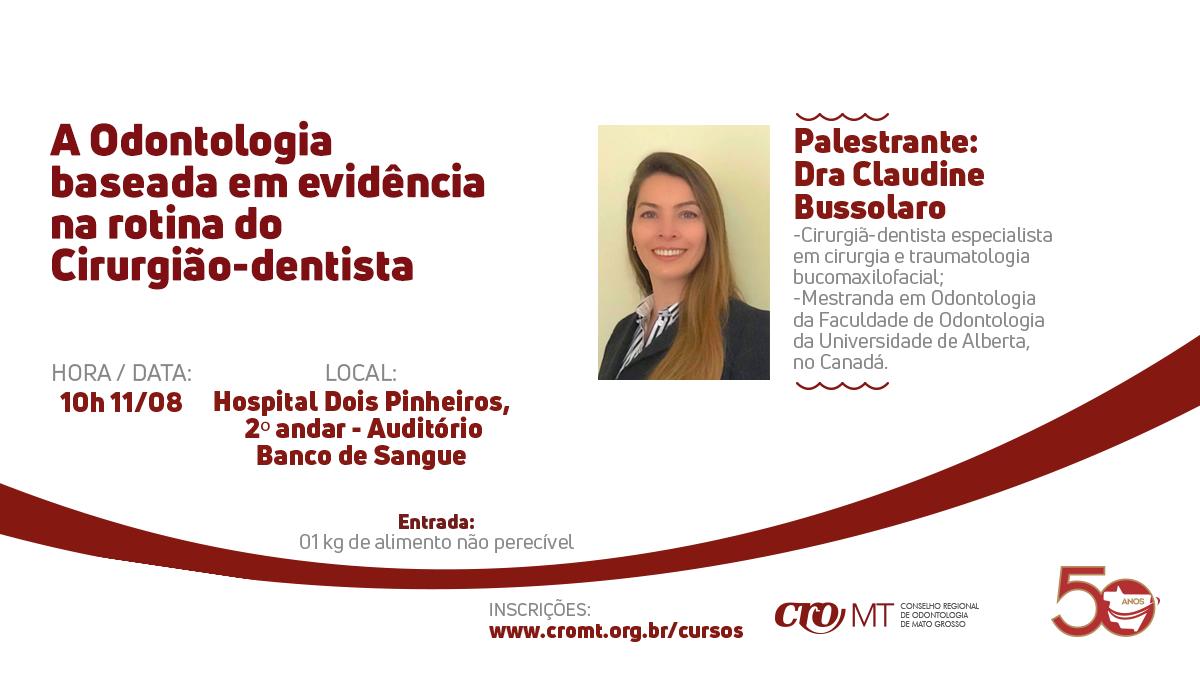 Em Sinop, Conselho realiza palestra sobre as evidências na rotina do cirurgião-dentista