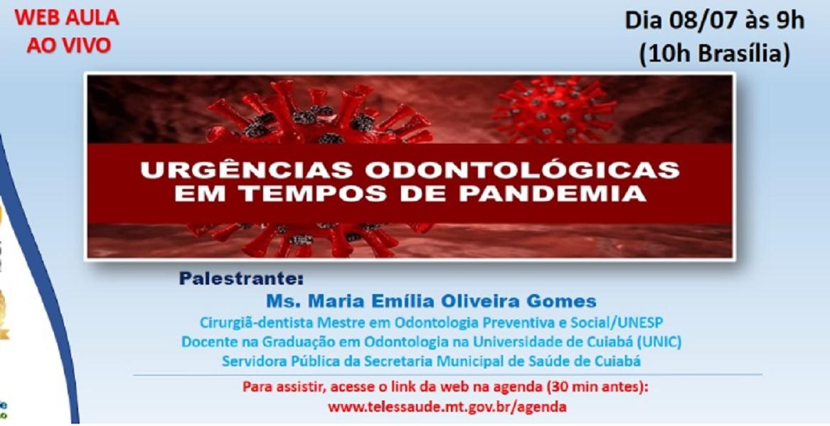 CRO-MT apoia curso sobre Odontologia e COVID-19