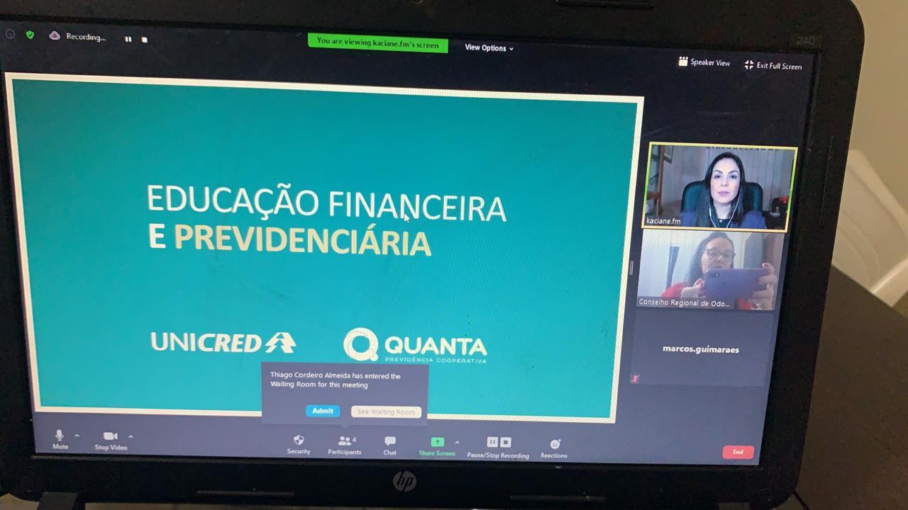 Educação financeira é tema de sétimo Chame o CRO on-line