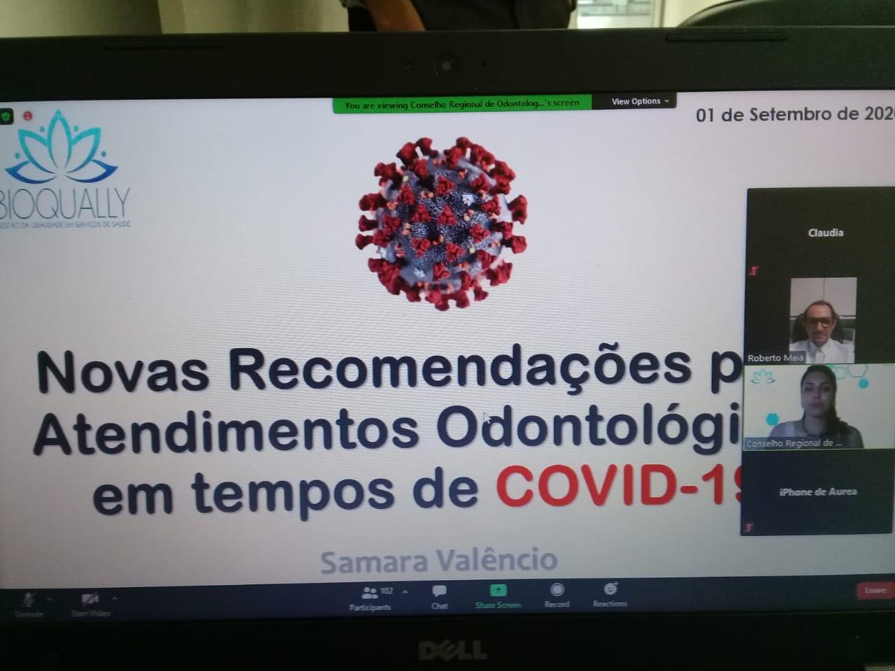 9º Chame o CRO foca em atendimento durante pandemia