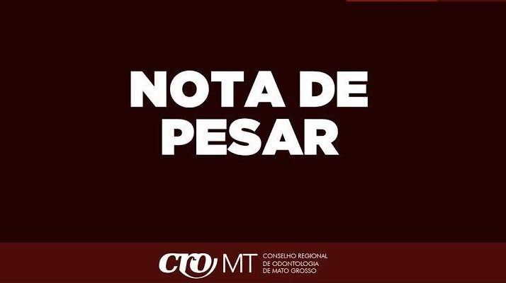 Nota de pesar - Benedito Henrique Carvalho Neto